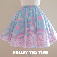 Pastel party mint skater skirt MADE TO ORDER sold by Holley Tea Time