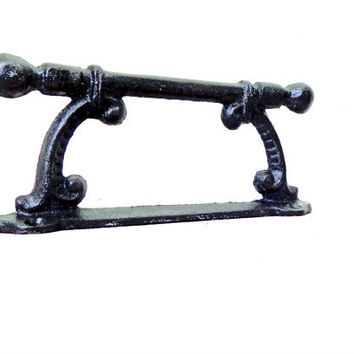 Black Cast Iron Handle ornate vintage by TheArtOfFinerThings