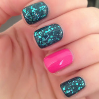 Teal MePlease  Teal Prism Glitter Nail Polish by ILoveNP on Etsy
