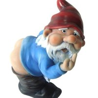 Funny Guy Mugs Mooning Gnome Statue
