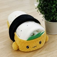 Cottonfood Travel Rug in Tofu Sushi plush case doll kawaii cute knee Blanket