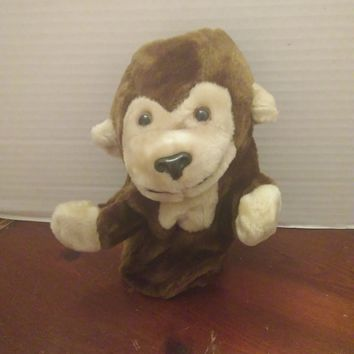vintage midwestern home products monkey chimp hand puppet plush