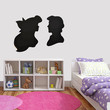 Vinyl wall decal - Ariel & Eric Silhouette Style Two