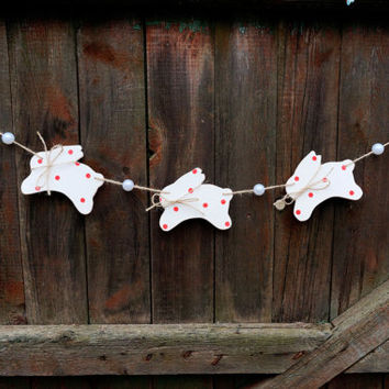 Nursery garland Easter bunny garland Rabbit nursery wall decor Nursery decor Wooden banner Children garland