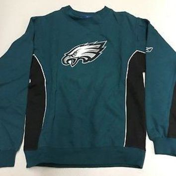 PHILADELPHIA EAGLES GREEN YOUTH CREWNECK EMBROIDERED SWEATSHIRT BY REEBOK