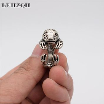 fashion Adjustable 3D ring Vintage Bradypus ring cute retro Sloth Ring For Women Men gift Jewellery Christmas gift punk