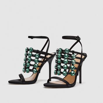 JEWELLED SANDALS DETAILS