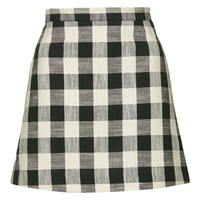 Gingham Bonded Mini Skirt - New In