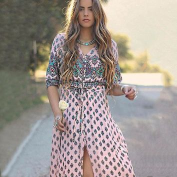 Boho Long Slit Maxi Dress (3 Colors)