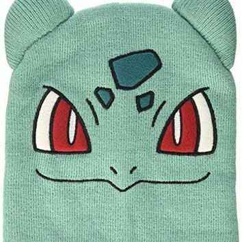 BIOWORLD Pokémon Bulbasaur Knit Beanie Cap Hat teal One Size