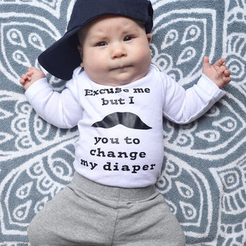 mustache you, change my diaper, new diaper, diaper, new baby gift, baby shower, mustache joke, baby diaper, life of baby, new baby, mom dad