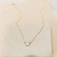 You're a Gem Necklace in Gold + White – Dress Up
