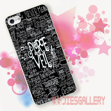 Pierce The Veil quotes Black for iPhone 4/4S, iPhone 5/5S, iPhone 5C, iPhone 6 Case - Samsung S3, Samsung S4, Samsung S5 Case