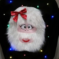 Light Up UGLY CHRISTMAS SWEATER!! - Bumbella the Abominable Snow Monsters Wife