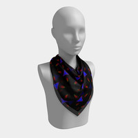 Pattern on Black - Scarf, Scarves, Women's Scarf, Fashion Accessory, Fashion Accent, Gift Idea, Gift for Her, Rich Colors, Abstract Design