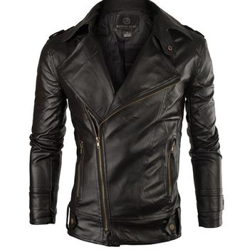 Casual Leather Men Motorcycle Jacket