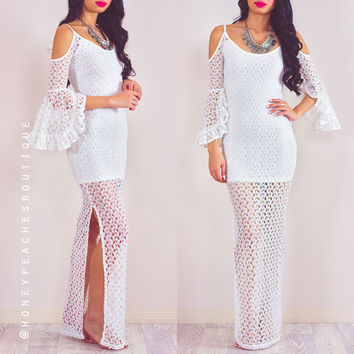 As The Wind Blows Maxi Dress - White