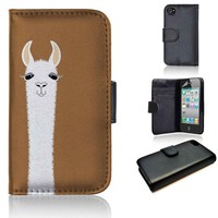 LLAMA PORTRAIT | wallet case | iPhone 4/4s 5 5s 5c 6 6+ case | samsung galaxy s3 s4 s5 s6 case |