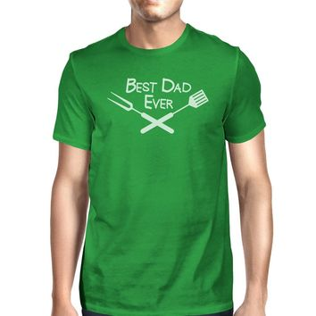 Best Bbq Dad Green Graphic T-shirt For Men Funny Gift Ideas For Dad