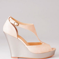 BC LOVES FRAN SHOES, ON PAR OPEN TOE WEDGE