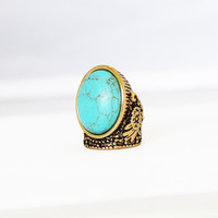 Tiger Lily Turquoise Stone Ring