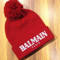 Day-First™ Balmain Hip Hop Women Men Beanies Winter Knit Hat Cap