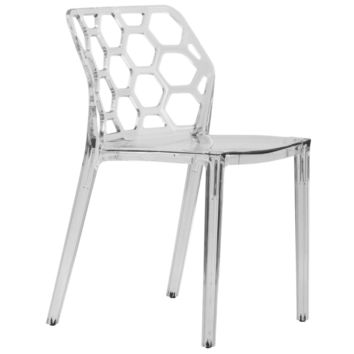 Cove Transparent Clear Modern Lucite Dining Chair