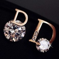 ONETOW Dior Women Fashion Diamonds Chic Accessories Fine Jewelry Earrings