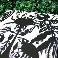 Large Refillable Blank Book - DISTORTED FOREST - Tribal Spooky Graphic - A4 size - Free Shipping