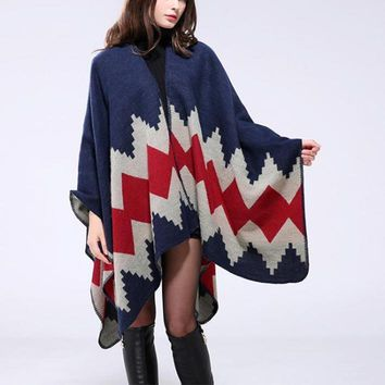 6 Style Winter Scarf Luxury New Women Vintage Blanket Women Lady Knit Shawl Cape Cashmere Scarf