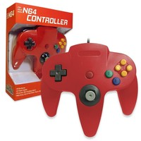 Old Skool Nintendo 64 Controller in Red