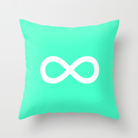 Mint Infinity Throw Pillow by M Studio