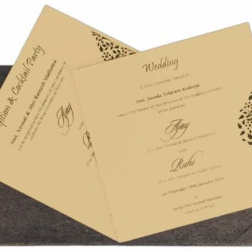 Pleasant Wedding Invitation Cards-KSK3974
