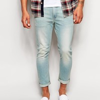 ASOS | ASOS Cropped Super Skinny Jeans In Light Wash at ASOS