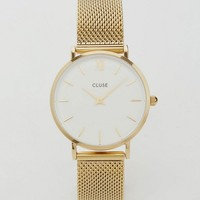 CLUSE Minuit Gold Mesh Watch CL30010 at asos.com