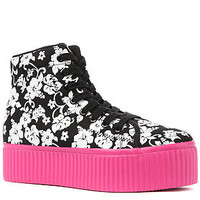 Jeffrey Campbell Sneaker Hiya in Hawaiian Print