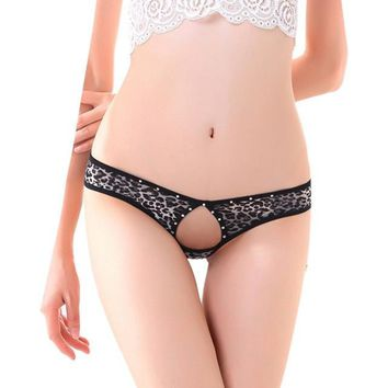 Sexy Lady Leopard Print Underwear Panties Briefs Bikini Thongs