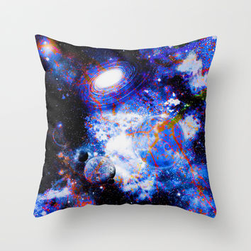 Galaxy Throw Pillow by Haroulita