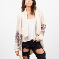 Aztec Print Knitted Holiday Cardigan