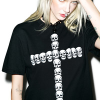 Burger And Friends Boneheads Tee Black