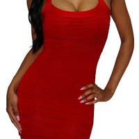 On The Horizon (Red)-Great Glam is the web's top online shop for trendy clubbin styles, fashionable party dress and bar wear, super hot clubbing clothing, stylish going out shirt, partying clothes, super cute and sexy club fashions, halter and tube to
