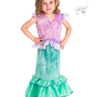 Little Adventures Mermaid Princess Dress Up with Necklace, Bracelet & Hairbow