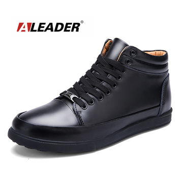 Genuine Leather Mens Ankle Boots Shoes Autumn Casual Mens Boots Waterproof Fashion Boots Fall for Man Shoes bota masculino