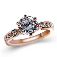 Austria Crystal Diamond Engagement Ring