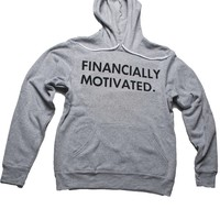 FINANCIALLY MOTIVATED HOODIE (LIGHT GREY)