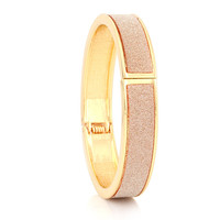 Gold & Pink Glitter Hinge Bangle