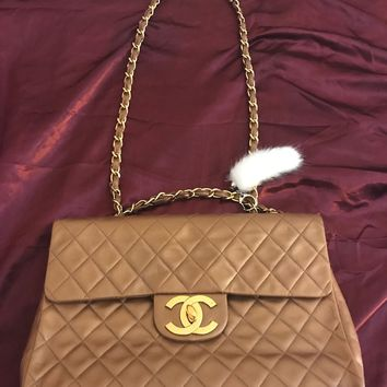 Vintage Gold Chanel Jumbo Classic Flap Bag