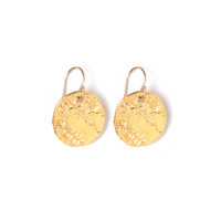 Tess and Tricia Lyra Gold Ornate Oval Earring