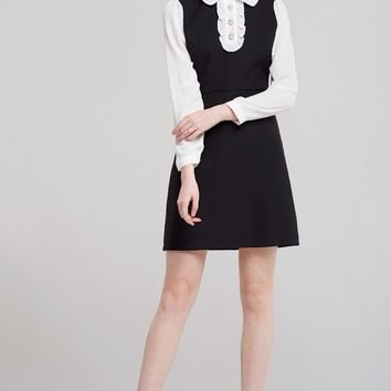 Emily Ruffle Collar Dress Discover the latest fashion trends online at storets.com