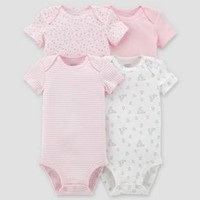 Baby Girls' 4pk Bodysuit Set - Just One You™ Made by Carter's® Clay